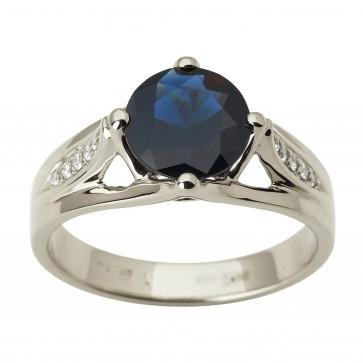 Каблучка з діамантами та кольоровим камінням 981-1812