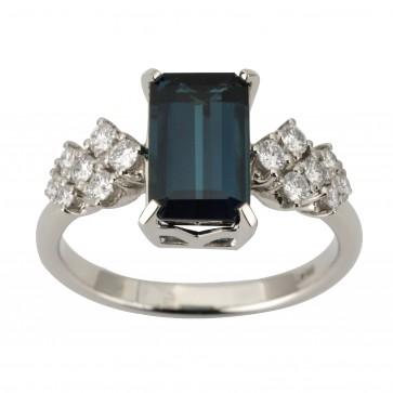 Каблучка з діамантами та кольоровим камінням 981-1840