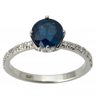 Каблучка з діамантами та кольоровим камінням 981-1842