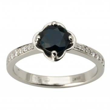 Каблучка з діамантами та кольоровим камінням 981-1868