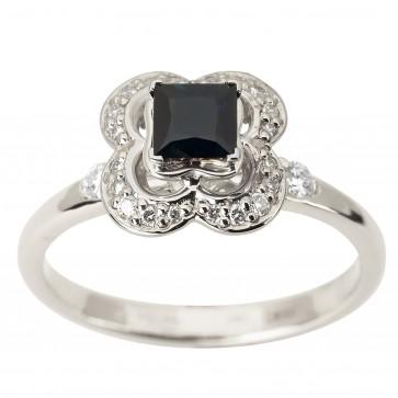Каблучка з діамантами та кольоровим камінням 981-1870