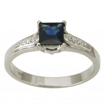 Каблучка з діамантами та кольоровим камінням 981-1891