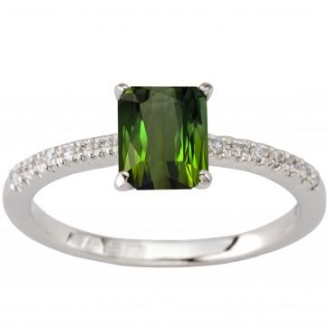 Каблучка з діамантами та кольоровим камінням 981-1910.21