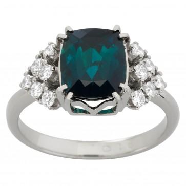 Каблучка з діамантами та кольоровим камінням 981-1911