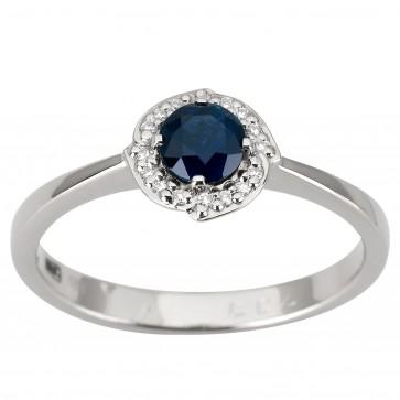 Каблучка з діамантами та кольоровим камінням 981-1926