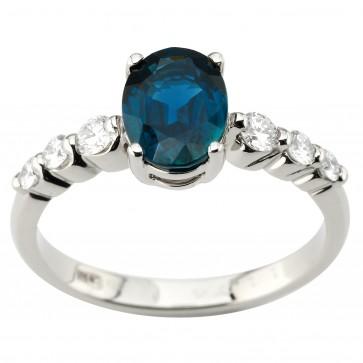 Каблучка з діамантами та кольоровим камінням 981-1930