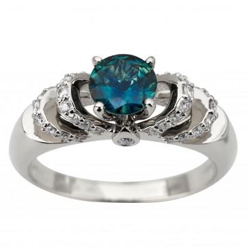 Каблучка з діамантами та кольоровим камінням 981-1938
