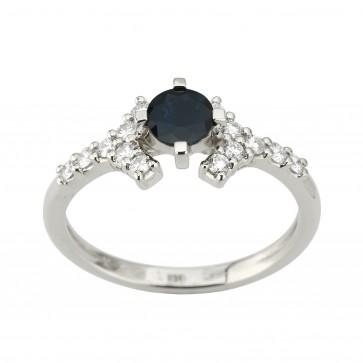 Каблучка з діамантами та кольоровим камінням 981-1953