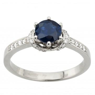 Каблучка з діамантами та кольоровим камінням 981-1960