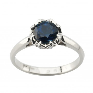 Каблучка з діамантами та кольоровим камінням 981-1967