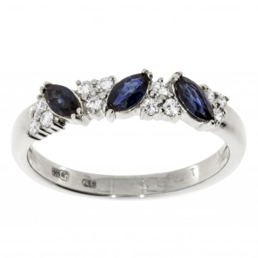 Каблучка з діамантами та кольоровим камінням 981-2013