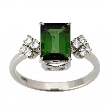 Каблучка з діамантами та кольоровим камінням 981-2263