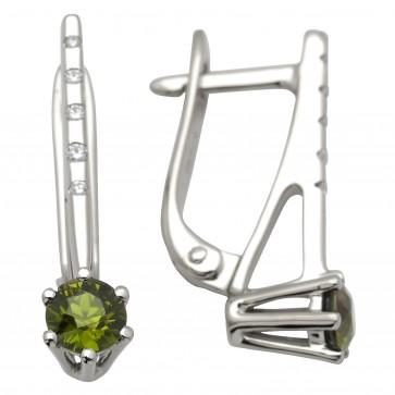 Сережки з діамантами та кольоровим камінням 982-0689