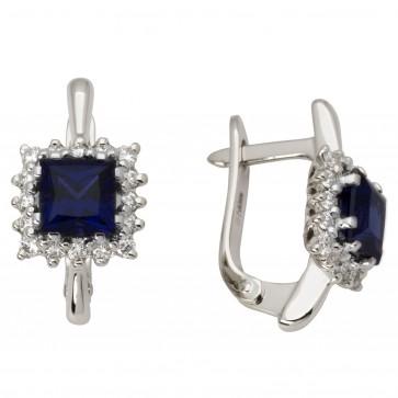 Сережки з діамантами та кольоровим камінням 982-0700