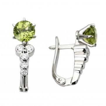 Сережки з діамантами та кольоровим камінням 982-0857