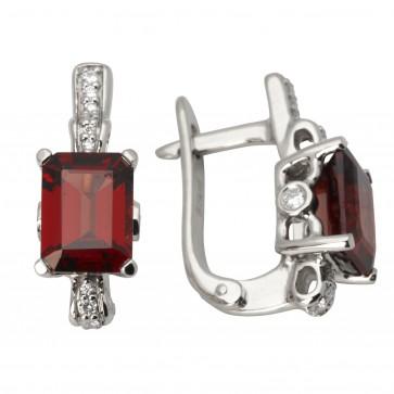 Сережки з діамантами та кольоровим камінням 982-0918