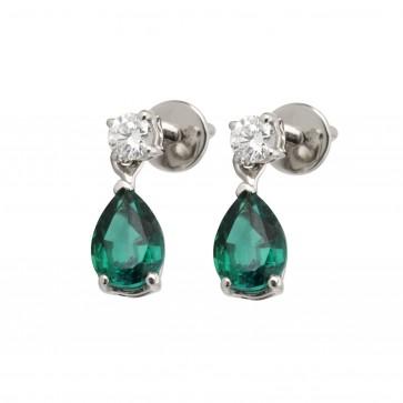 Сережки з діамантами та кольоровим камінням 982-0948
