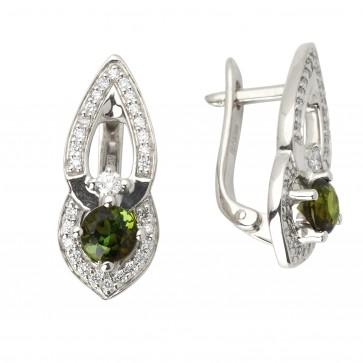 Сережки з діамантами та кольоровим камінням 982-0966