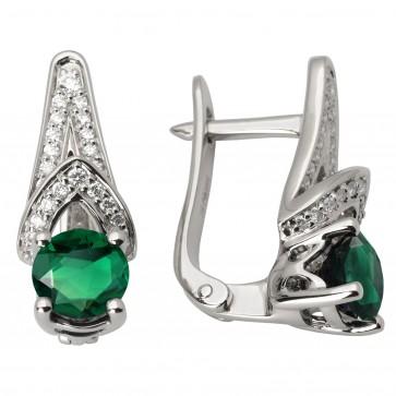Сережки з діамантами та кольоровим камінням 982-0996