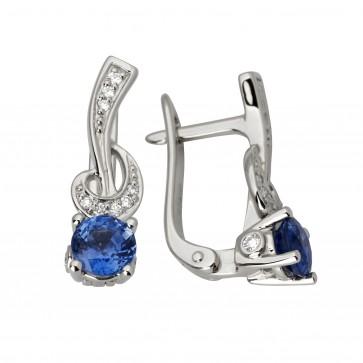 Сережки з діамантами та кольоровим камінням 982-1015