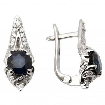 Сережки з діамантами та кольоровим камінням 982-1037