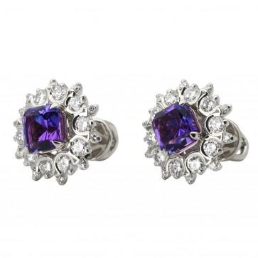 Сережки з діамантами та кольоровим камінням 982-1088