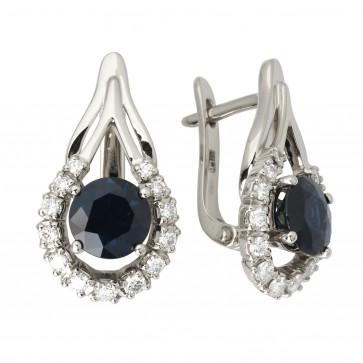 Сережки з діамантами та кольоровим камінням 982-1102