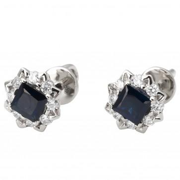 Сережки з діамантами та кольоровим камінням 982-1179
