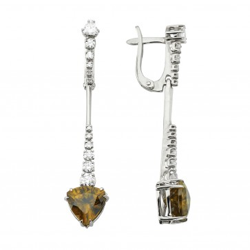 Сережки з діамантами та кольоровим камінням 982-1192
