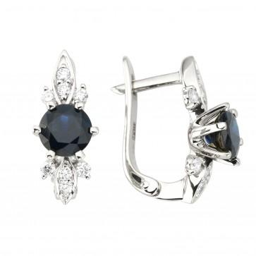 Сережки з діамантами та кольоровим камінням 982-1208