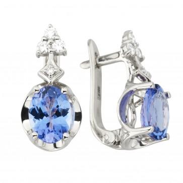 Сережки з діамантами та кольоровим камінням 982-1229