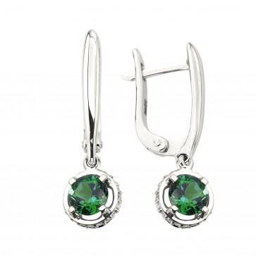Сережки з діамантами та кольоровим камінням 982-1426