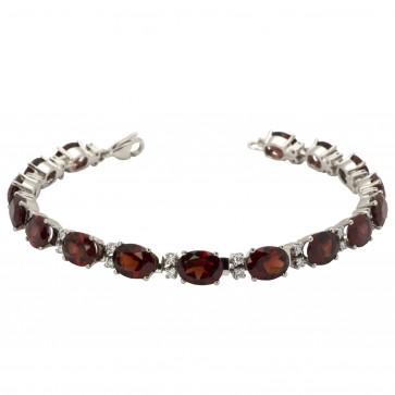 Браслет з діамантами та кольоровим камінням 988-0041
