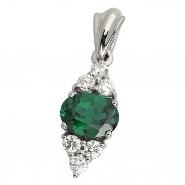 Підвіска з діамантами та кольоровим камінням 989-0353