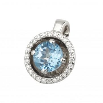 Підвіска з діамантами та кольоровим камінням 989-0486