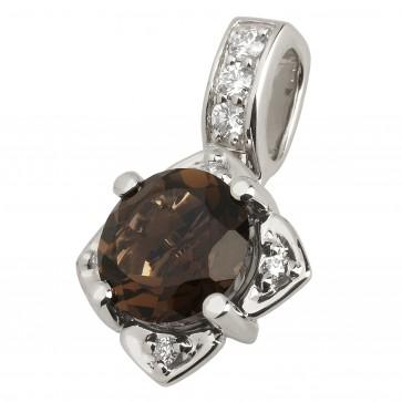 Підвіска з діамантами та кольоровим камінням 989-0526