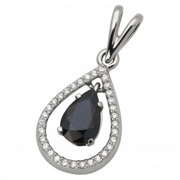 Підвіска з діамантами та кольоровим камінням 989-0549