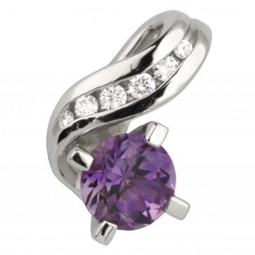Підвіска з діамантами та кольоровим камінням 989-0581
