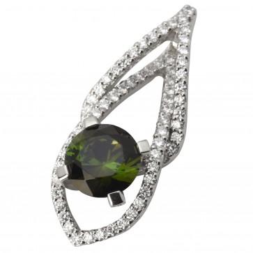 Підвіска з діамантами та кольоровим камінням 989-0621