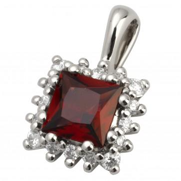 Підвіска з діамантами та кольоровим камінням 989-0639