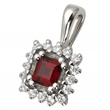 Підвіска з діамантами та кольоровим камінням 989-0643