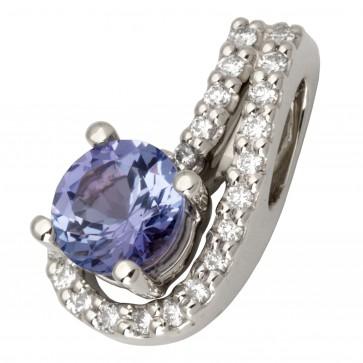 Підвіска з діамантами та кольоровим камінням 989-0652