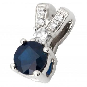 Підвіска з діамантами та кольоровим камінням 989-0677