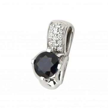 Підвіска з діамантами та кольоровим камінням 989-0725