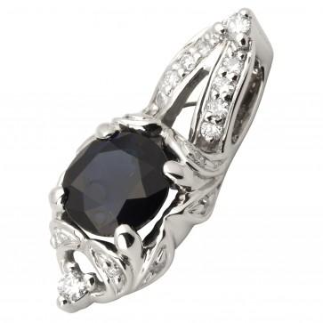 Підвіска з діамантами та кольоровим камінням 989-0735