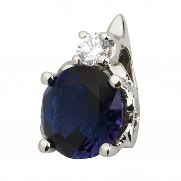 Підвіска з діамантами та кольоровим камінням 989-0762