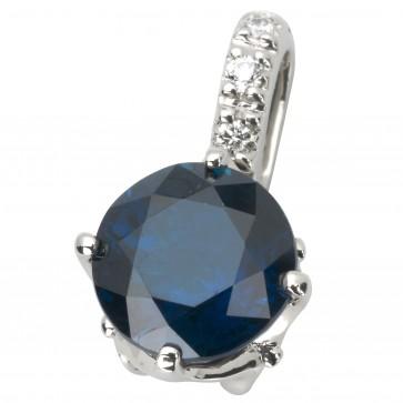 Підвіска з діамантами та кольоровим камінням 989-0777