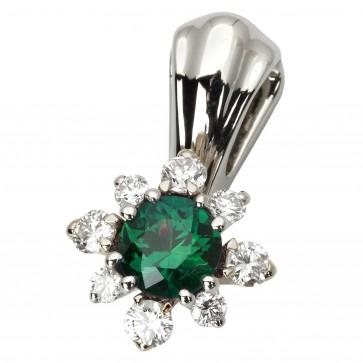 Підвіска з діамантами та кольоровим камінням 989-0783