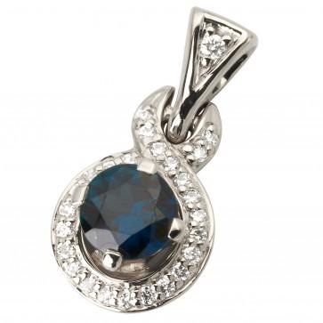 Підвіска з діамантами та кольоровим камінням 989-0793