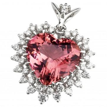 Підвіска з діамантами та кольоровим камінням 989-0822